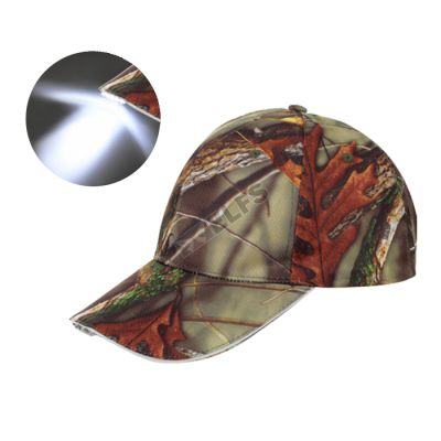 TOPI LED GLOW Topi Lampu LED Torch Outdoor Hiking Camouflage Coklat Tua 2  to1 led torch camo ct 1 2e778ab8c1